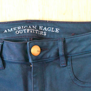 American Eagle Blue Jeggings Skinny Jeans Pants